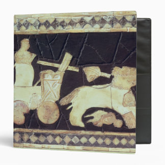 War chariot pulled by two horses, 2800-2300 BC Vinyl Binder