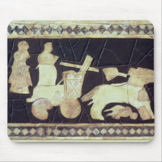 War chariot pulled by two horses, 2800-2300 BC Mouse Pad