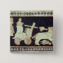 War chariot pulled by two horses, 2800-2300 BC Pinback Button