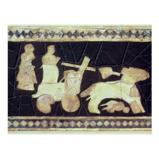 War chariot pulled by two horses, 2800-2300 BC Postcard