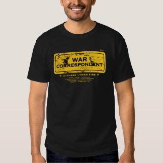War Correspondent Tshirts