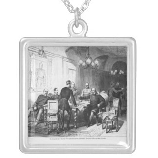 War council at Versailles Prefecture Silver Plated Necklace