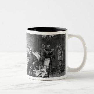 War council at Versailles Prefecture Two-Tone Coffee Mug