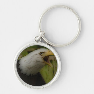 'War Cry' Silver-Colored Round Keychain