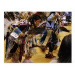 War Dance Native American PowWow Postcard