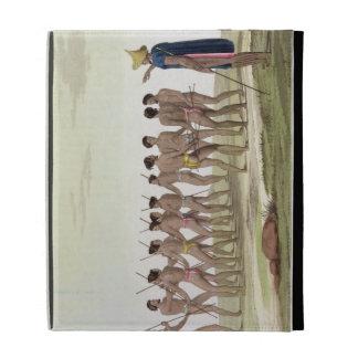 War Dance of the Caroline Islanders, plate 22 from iPad Folio Case