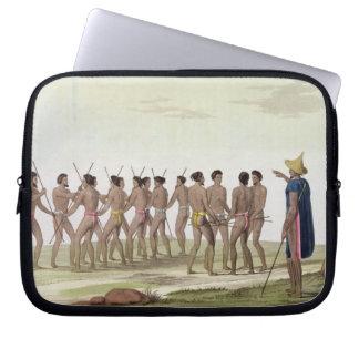 War Dance of the Caroline Islanders, plate 22 from Laptop Sleeve