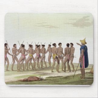 War Dance of the Caroline Islanders, plate 22 from Mousepads