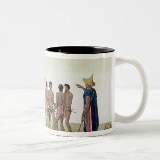 War Dance of the Caroline Islanders, plate 22 from Mugs