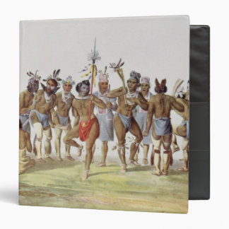 War Dance of the Sauks and Foxes 3 Ring Binders