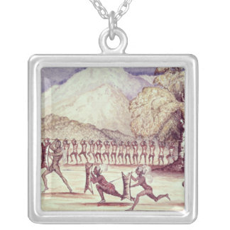 War Dance Silver Plated Necklace