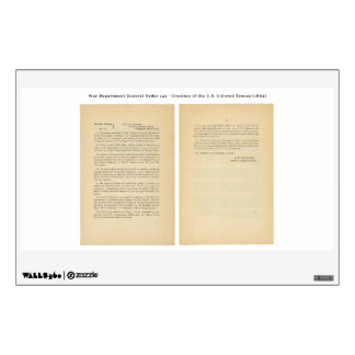 War Department General Order 143 Colored Troops Wall Sticker