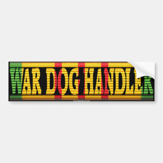 War Dog Handler Vietnam Service Ribbon Sticker Car Bumper Sticker