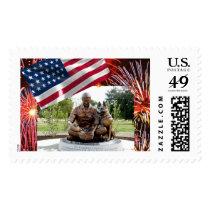 War Dog Memorial Postage Stamp