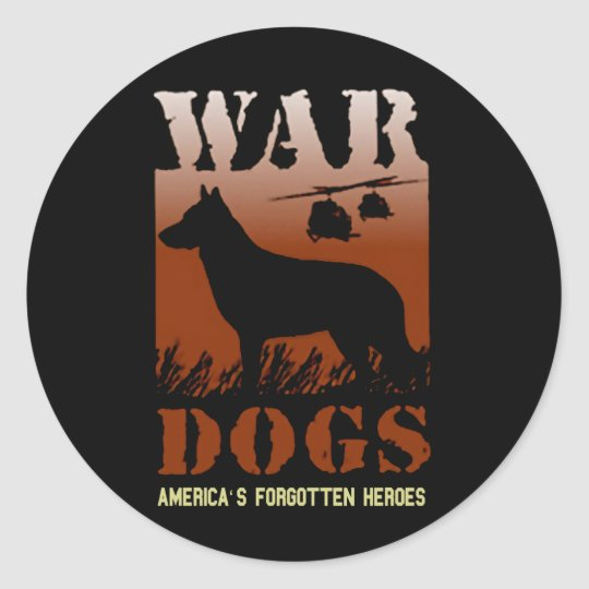 War Dogs-Our Forgotten Heroes VD Sticker