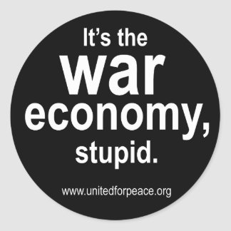 War Economy Round Sticker