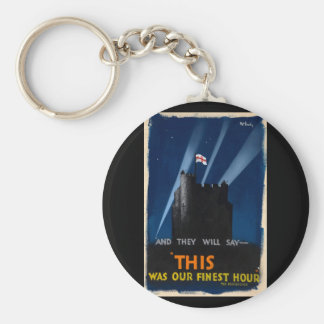 War Effort And they will say_Propaganda Poster Keychain