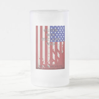 War Flag Frosted Beer Mugs