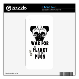 war for planet of pugs cool dog skins for the iPhone 4S
