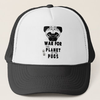 war for planet of pugs cool dog trucker hat