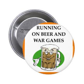 war game pinback button