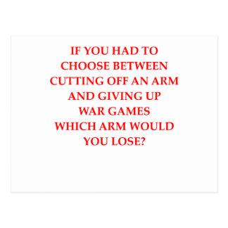 war games postcard