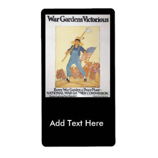 War Garden World War II Label