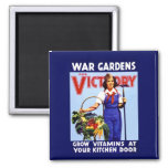 War Gardens for Victory 2 Inch Square Magnet
