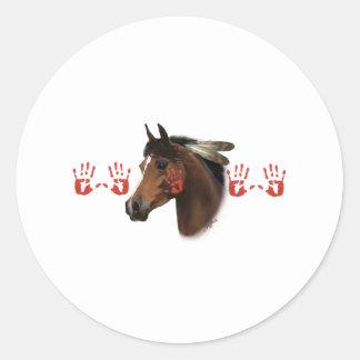 War Horse Classic Round Sticker