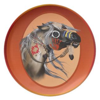 War Horse Oval Plate