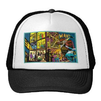 War in the Neighborhood Cartoon Art Trucker Hat