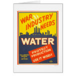 War Industry Water WWII 1943 WPA Greeting Cards