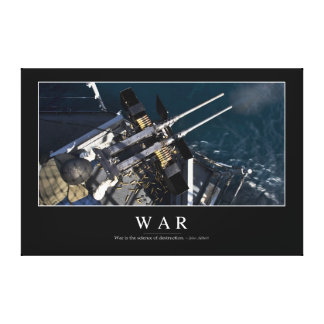 War: Inspirational Quote 3 Canvas Print