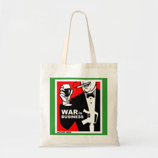 war is business tote bag
