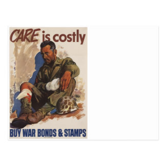War is Costly WWII Postcard