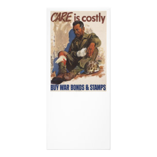 War is Costly WWII Rack Card Design