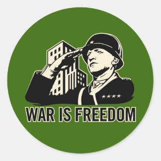 War is Freedom Classic Round Sticker