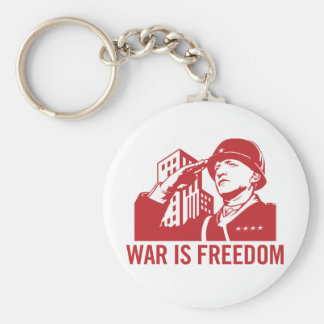 War is Freedom Keychain