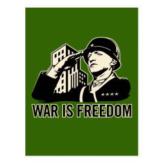 War is Freedom Postcard