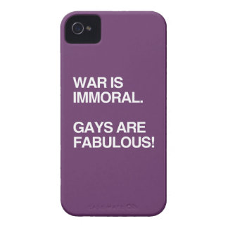 WAR IS IMMORAL. GAYS ARE FABULOUS iPhone 4 COVER