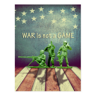 War is Not a Game Patriotic Design Post Card