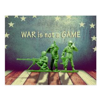 War is Not a Game Patriotic Design Postcard