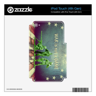 War is Not a Game Patriotic Design Skins For iPod Touch 4G