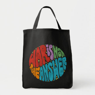War Is Not The Answer Grocery Tote Bag