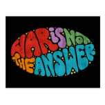 War Is Not The Answer Postcard