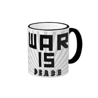 """""""War Is Peace"""" 1984 Slogan Mug"""