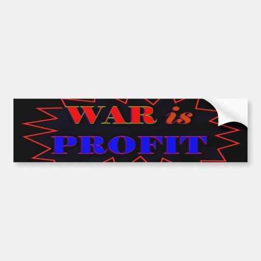 War Is Profit Bumper Sticker
