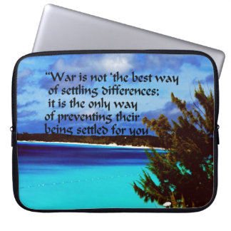 War isn't the answer laptop sleeves