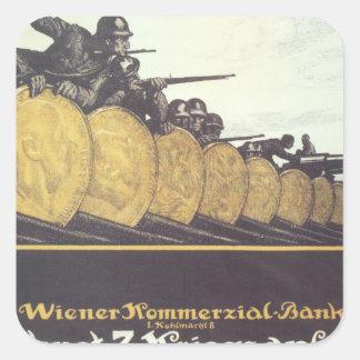 War loan 1917 Propaganda Poster Square Sticker