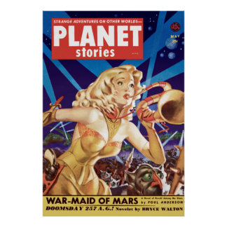 War-Maid of Mars from May 1952 Poster